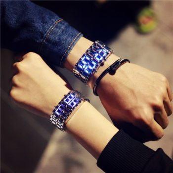 Korean Style Men-Women Digital Wristwatches